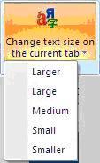 IETester scelta dimensione testo