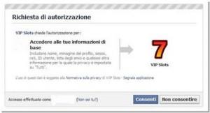 autorizzazione app facebook