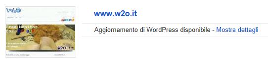 aggiornamento wordpress da GWT